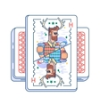 Hipster on playing card vector image vector image
