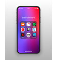 iphone ios folder social media icons set vector image