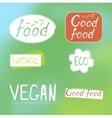 Labels food designs vector image vector image