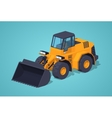 Low poly yellow heavy bulldozer vector image vector image