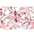 magnolia spring flowers vector image