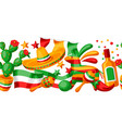 mexican cinco de mayo seamless pattern vector image