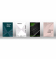 minimal cover design with linear waves vector image