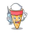 nurse ice cream tone character cartoon vector image vector image