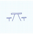 of trip symbol on table with vector image