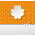 orange background with a floral frame vector image vector image