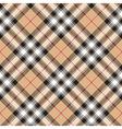Pride of scotland gold tartan fabric textile vector image vector image