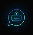 robot in speech bubble blue icon or logo vector image vector image