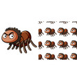 seamless background design with angry spider vector image vector image