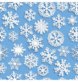 Seamless pattern of paper snowflakes vector image vector image