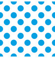 seamless pattern with big sailor navy blue dots vector image vector image