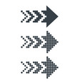 set black abstract pixel web arrows vector image