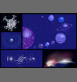 set of abstract planets vector image vector image