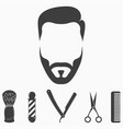 set of barber shop elements vector image vector image