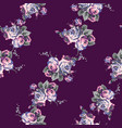 shabby chic vintage roses seamless pattern vector image vector image