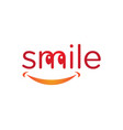 Smile dental logo template icon design vector image