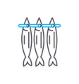 stockfish linear icon concept stockfish line vector image vector image