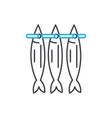 stockfish linear icon concept stockfish line vector image
