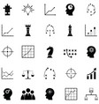 strategy icon set vector image vector image