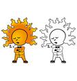 sunny man sleeps vector image vector image