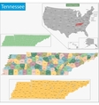 Tennessee map vector image