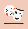 theatrical masks drama and comedy symbol isolated vector image