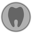 tooth silver coin vector image vector image