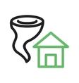 Tornado Hitting House vector image vector image