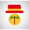 travel tourist hat concept coconut tree vector image