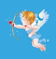 Valentine Day Cupid on Blue vector image vector image