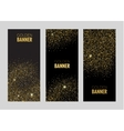 Vertical Black and Gold Banners Set Greeting Card vector image vector image