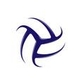 volleyball blue logo vector image vector image