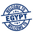 welcome to egypt blue stamp vector image vector image