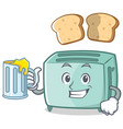 with juice toaster character cartoon style vector image