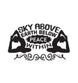 yoga quote sky above earth below peace vector image vector image