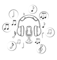 Music sound and entertainment sketches vector image