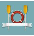 Lifebuoy and paddles