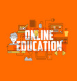 online education line icons set vector image
