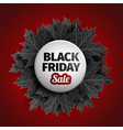 3d black friday sale tag design black realistic vector image