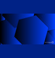 abstract background hexagon blue light and shadow vector image vector image