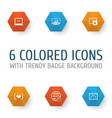 advertising icons set collection of connectivity vector image