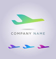 airplane icon logo templates for your business vector image