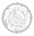 Astrological horoscope on January 1 2017 vector image vector image