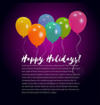 background with colorful helium balloons vector image