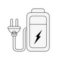 battery with plug vector image