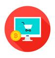 bitcoin ecommerce circle icon vector image vector image