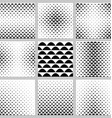 Black and white curved shape pattern set vector image vector image