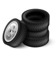 Black rubber car wheel vector image vector image