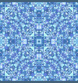 blue abstract repeating triangle mosaic tile vector image vector image