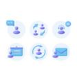 business communication 3d realistic icon set vector image
